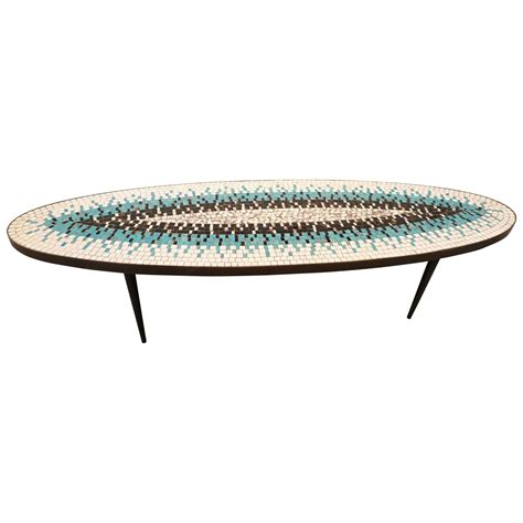 Mosaic Coffee Table by Mid Century Mosaic Coffee Table By Luberto At 1stdibs
