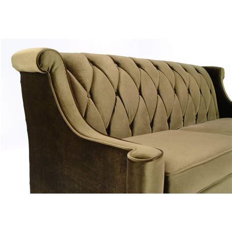 Barrister Velvet Sofa by Armen Living Barrister Velvet Sofa In Green Lc8443green