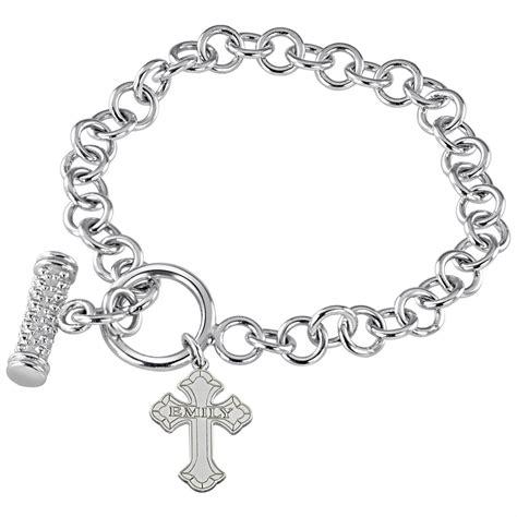 hden 174 sterling silver cross name bracelet 218864