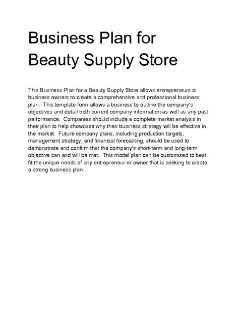 format of a business plan for a beauty salon welcome to docs 4 sale