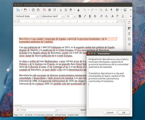 translate  text  select   linux desktop