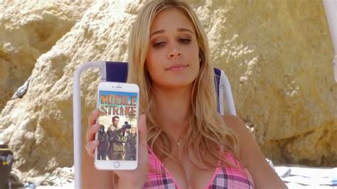 mobile commercial girl from strike mobile strike beach commercial with lauren compton youtube