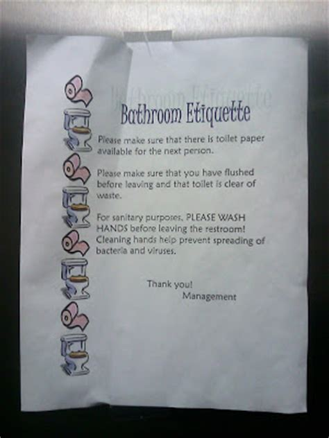 Bathroom Etiquette by What The Foto Bathroom Etiquette