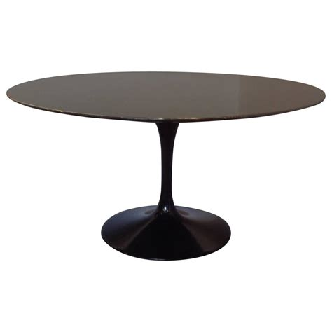 round granite dining table saarinen granite top pedestal dining table 54 quot round for sale at 1stdibs