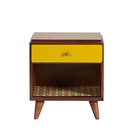 vintage bedroom table ls mango wood vintage 1 drawer bedside table mysmallspace