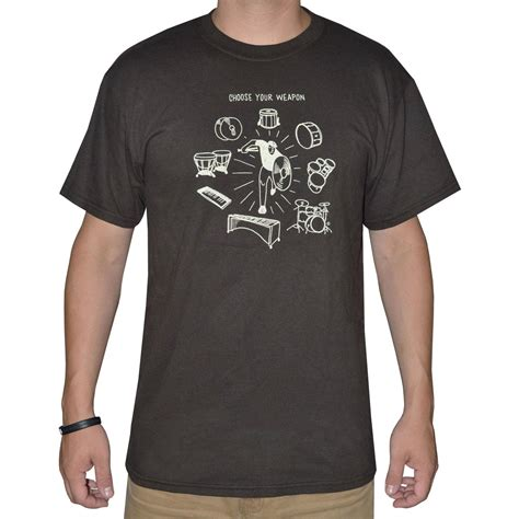 Promark T Shirt lone percussion choose your weapon t shirt lsp wpn