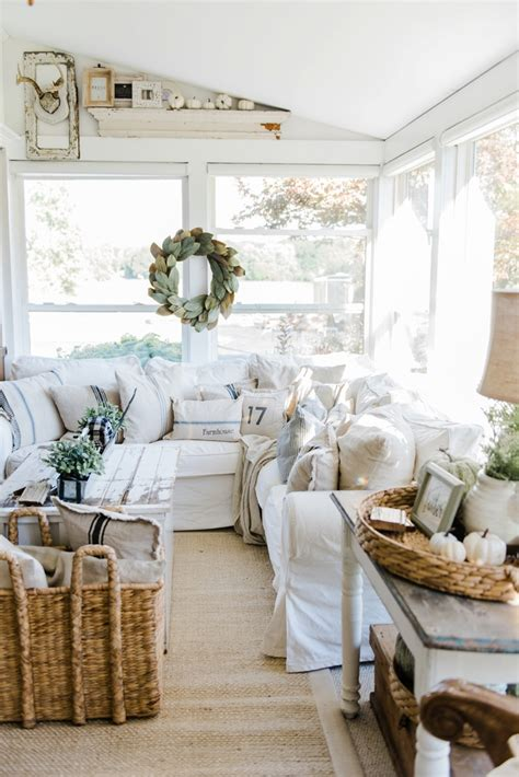 beautiful farmhouse style decorating blogs ideas cozy farmhouse fall sunroom