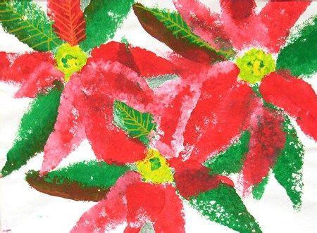 christmas craft art grade 3 sponge painted poinsettias grade 3 lessons sponge painting