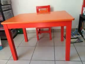 table et chaise ikea pour enfant de moins de 6 ans