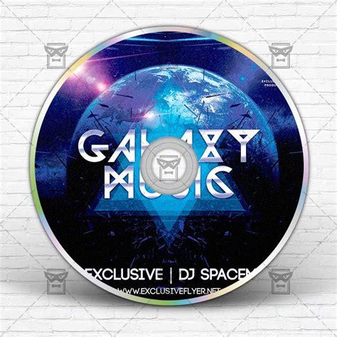 galaxy music premium mixtape album cd cover template