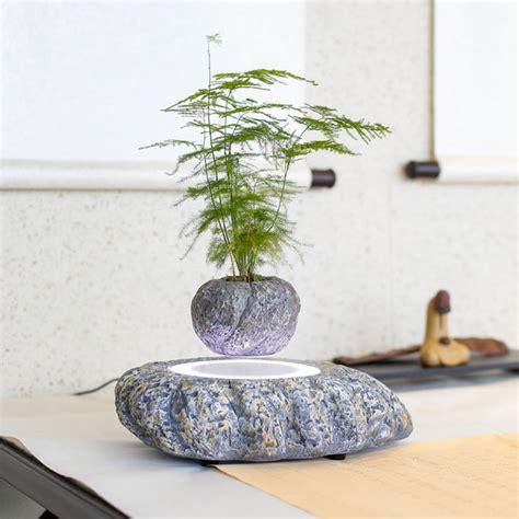 Pot Pohon Melayang Levitating Floating Plant magnetic levitating plant pot apollobox