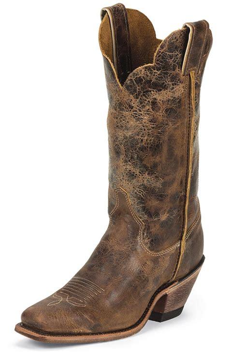 justin womens bent rail 12 quot square toe cowboy boots road