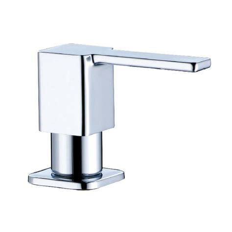 Soap Dispensers For Kitchen Sink Square Stainless Steel Soap Dispenser Fit For Kitchen Sink 3630002 In Liquid Soap Dispensers