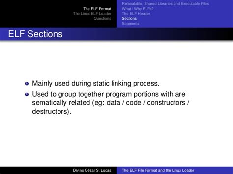 format file bash fisl xiv the elf file format and the linux loader