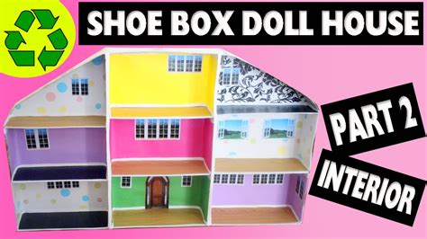 How To Make A Shoe Box Out Of Paper - how to make a shoe box dollhouse part 2 interior easy
