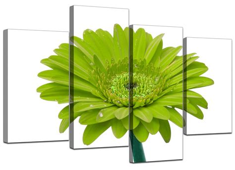 green wall decor canvas wall art of flower in lime green for your living room
