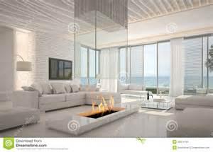 Open Loft Floor Plans amazing loft living room interior with seascape view stock