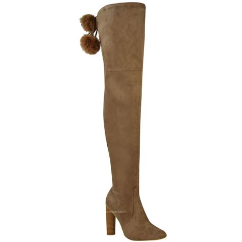 the knee stretch boots new womens thigh high stretch boots the knee