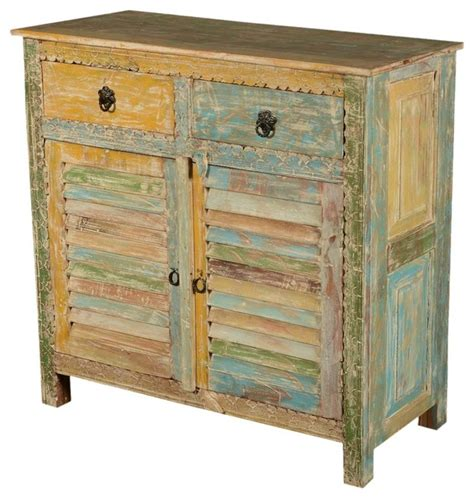 Wood Kitchen Storage Cabinets Rainbow Shutter Door Reclaimed Wood Kitchen Storage Cabinet Rustic Accent Chests And