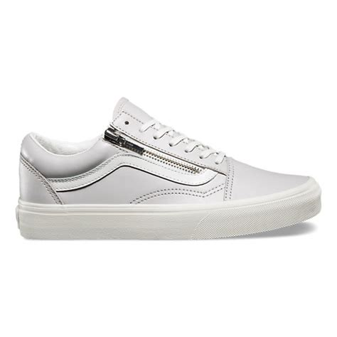 Zipper Vans leather skool zip shop shoes at vans