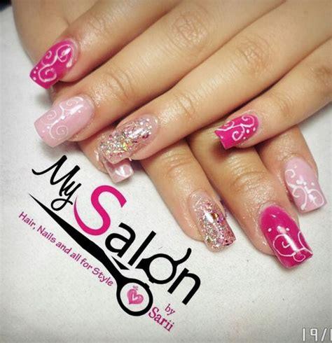 u 241 as de gel plata y fucsia nail gel pink silver youtube u 241 as acrilicas negras con rosa
