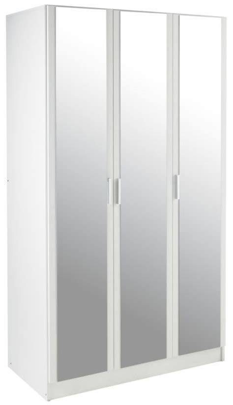 B Q Mirrored Wardrobes by B Q Mulberry 3 Door Mirrored Wardrobe White Customer