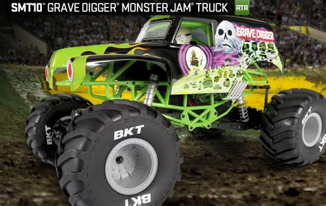 monster jam grave digger rc truck axial racing smt10 grave digger monster jam truck 1