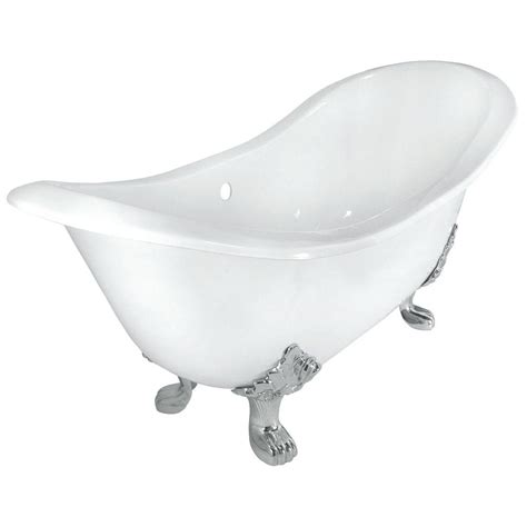 cast iron bathtub faucets elizabethan classics 54 in roll top cast iron tub wall faucet holes in white with ball and claw