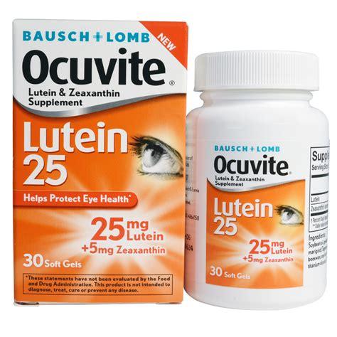 Vitamin Lutena bausch lomb ocuvite lutein 25 30 soft gels iherb