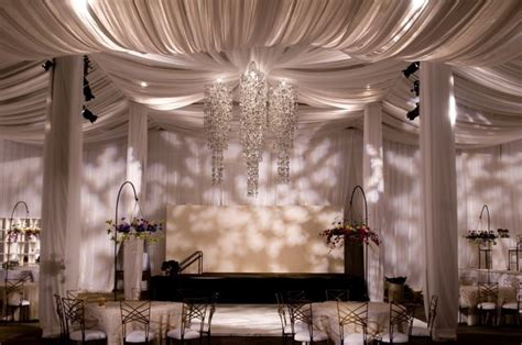 wall drapes for wedding reception all sheer drape ceiling and walls in an ugly warehouse