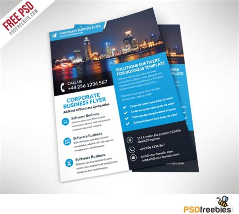 business flyers templates free corporate business flyer free psd template psdfreebies