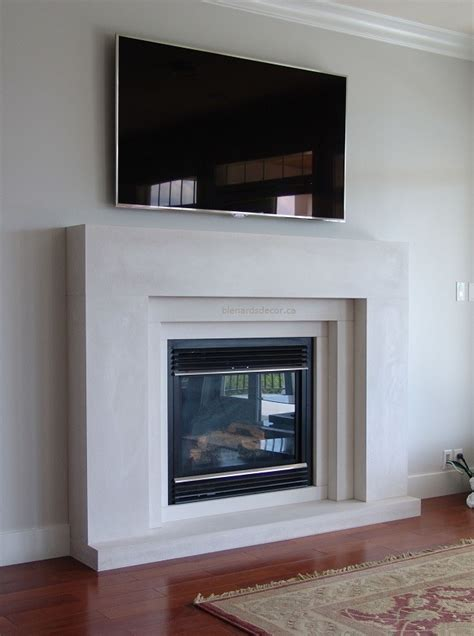 contemporary fireplace mantels Living Room Contemporary