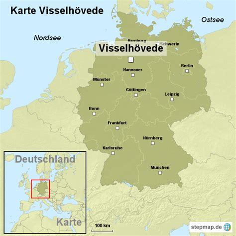 Deutsches Büro Grüne Karte Formular by Karte Visselh 246 Vede Ortslagekarte Landkarte F 252 R