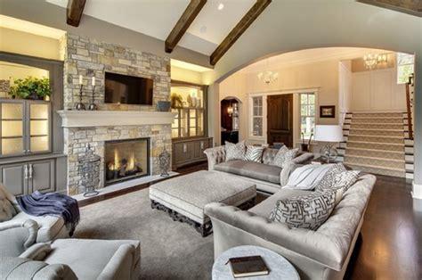 elegant great room   budget tufted sofas greige