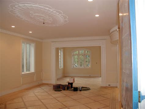 Interior Carpentry Work by Finish Carpentry Crown Molding Installation And Painting