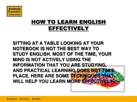The Best Way For The Studying Of English Language | ppt on english