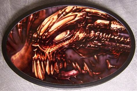 brutal tattoo designs metal belt buckle sepia new ebay