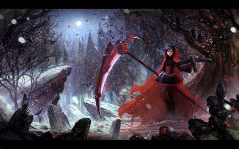 wallpaper engine rwby image rwby ruby rose death scythe hd wallpaper 1440x900