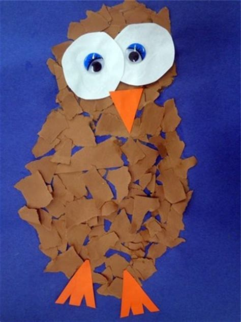 Snowy Owls Torn Paper Collage January 2013 Crafts - 53 best owl babies images on owls birds and