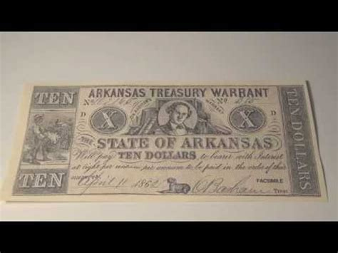 Warrant Search Arkansas 1862 Arkansas Treasury Warrant Note