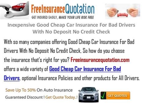Cheap Car Insurance Drivers No Box by Inexpensive Cheap Car Insurance For Bad Drivers With