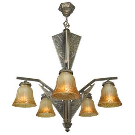deco 6 light chandelier antique ceiling light