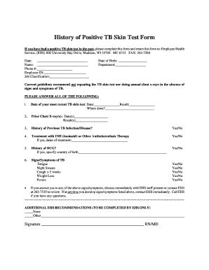 Tb Skin Test Form Fill Online Printable Fillable Autos Post Tb Skin Test Form Template