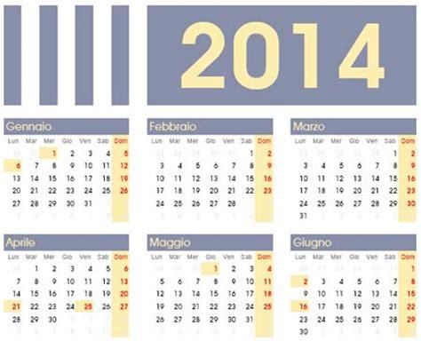 Calendario L 2014 Calendario Dell Anno 2014 Da Scaricare