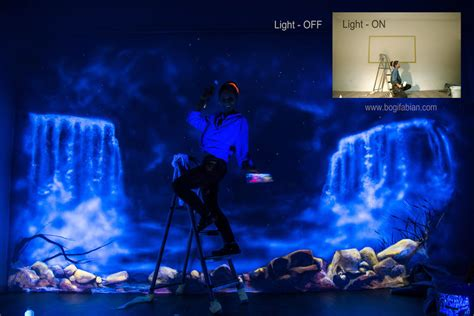 glowing murals turn rooms into dreamy worlds