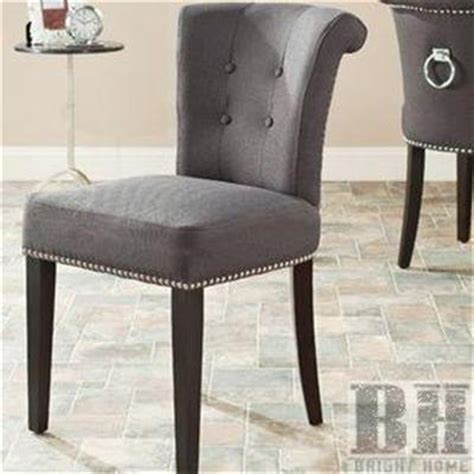 nancy leather velvet button tufted ring pull dining chair
