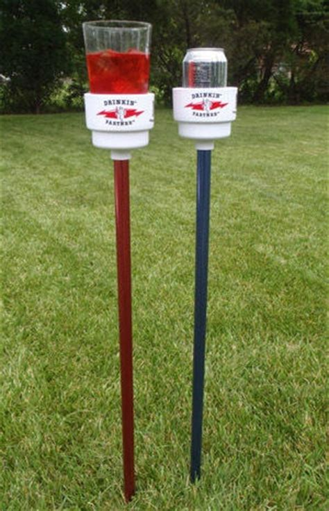 backyard drink holders pin by gary jones on pvc projects pinterest