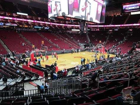 toyota center sections toyota center section 124 houston rockets
