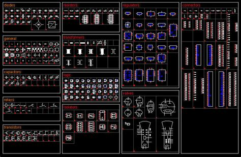 templates autocad electrical cad drawing electric electronic symbols isolators