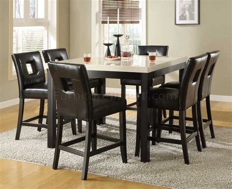 bruce faux marble counter height set dining room sets black counter height dining table w faux marble top options